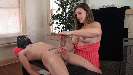 FemDom handjob videos featuring slow teasing edging handjobs on HandDomination.